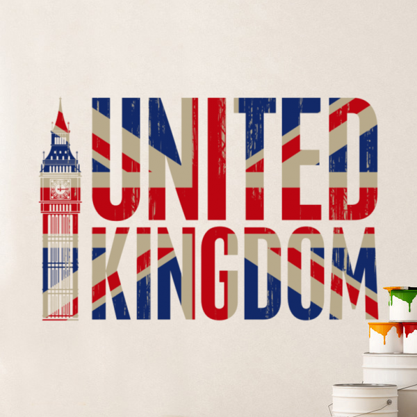 United Kingdom Ilustrasi Globe Earth Country Wall Vinyl Sticker Custom Made Home Dekorasi Reka Bentuk Fesyen Pvc Dilepas