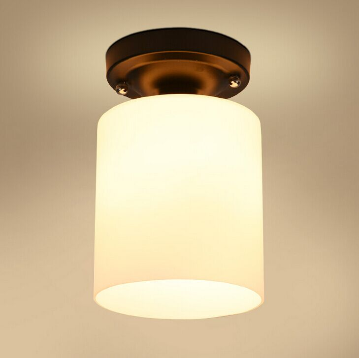 Nordic personality glass LED ceiling lamp simple aisle stairs balcony lighting single head ceiling lampLED pendant lamps ZA restaurant bar simple balcony stairs pendant light cafe creative personality nordic industrial single head lamps