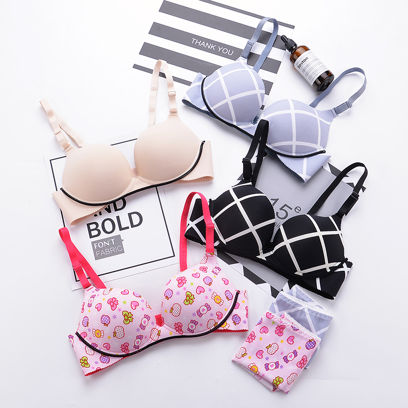 Young Girl Underwear Puberty Teenage Girls Small Bras Children Prints Teens Training Bra For Kids Teenagers Lingerie Cotton Soft