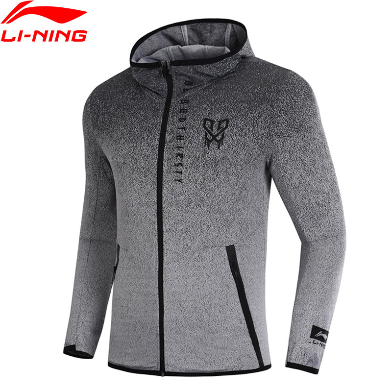 Li-Ning Men CBA Basketball Series Sweater Hoodie Regular Fit Gradient Color LiNing Comfort Sports Coat AWDN343 MWW1416 баскетбольные кроссовки lining cba abak003 1 4 5 6
