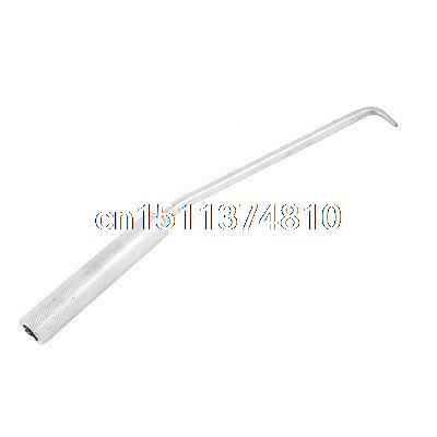 Metal Rotatable Handle Rebar Wires Bend Tying Hook Tool Silver Tone silver tone metal flat head rotatable handle can tap valve for refrigerant