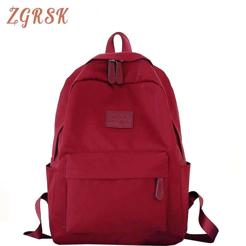 Korean Style Women Fashion Nylon Backpack Bagpack Female Back Pack Bookbag School Bags For Teenage Girls Backpacks