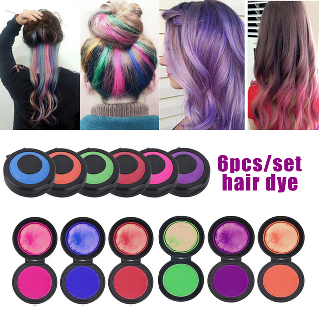 Hot Temporary Hair Dye Powder Cake Hair Chalk Crayons Unisex Color Hair Wax One-time Mold Styling SalonTools for Party