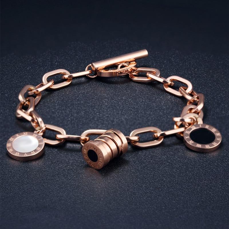 Bridal Wedding Engagement Bracelet For Women Elegant Resin Shell Bangles Roman Numerals Jewellery Bulgaria Bracelets for Women