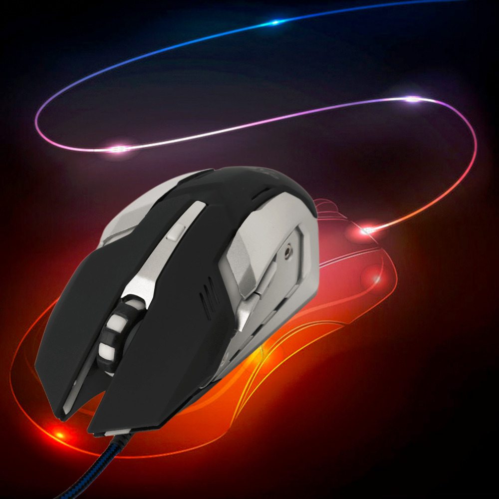 Professional Adjustable 3200DPI 6 Keys Gaming Mouse USB Wired LED Effect Game Mouse For PC Computer