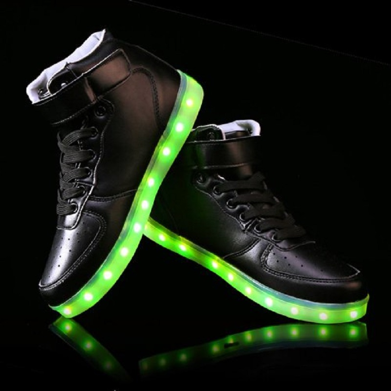Boy Girls Shoes2019 Light Shoes Led Luminous Shoes Usb Charging Colorful Light Board Shoes Modern Design Men's Shoes Men's Casual Shoes