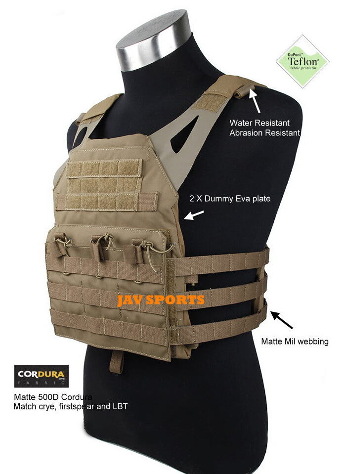 Jump Plate Carrier JPC Vest JPC Combat Vest Matte Coyote Brown ColorSTG050471) tmc vest 94k m4 pouch plate carrier tactical military vest matte coyote brown free shipping sku12050549