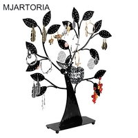 2 1Pc Black Earring Tree Bird Nest Jewelry Display Stand Holder Jewelry Packaging