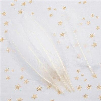 Натуральные лебединые перья 14-20 см, многоцветные гусиные перья, шлейф для рукоделия, свадебных украшений, рукоделия, украшения для дома, 50 шт - Цвет: white 50pcs