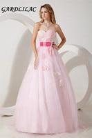 2017 Настоящее изображение на заказ MadeTulle Розовый Длина до пола бальное платье Бальные платья