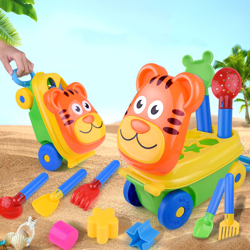 New Storage Hand Push Children Baby Beach Toys Zabawki Do Piasku Sand Pool Play House Tool Set Zandbak Speelgoed Summer Hot G03