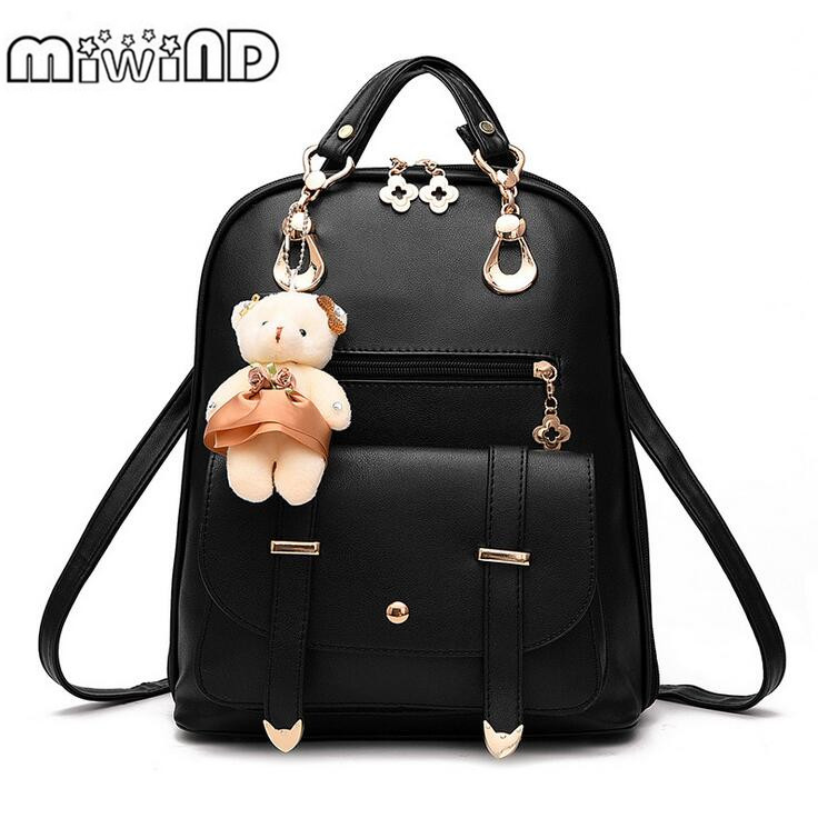 MIWIND Fashion Women PU Backpack For Girls 2016 Backpacks ...