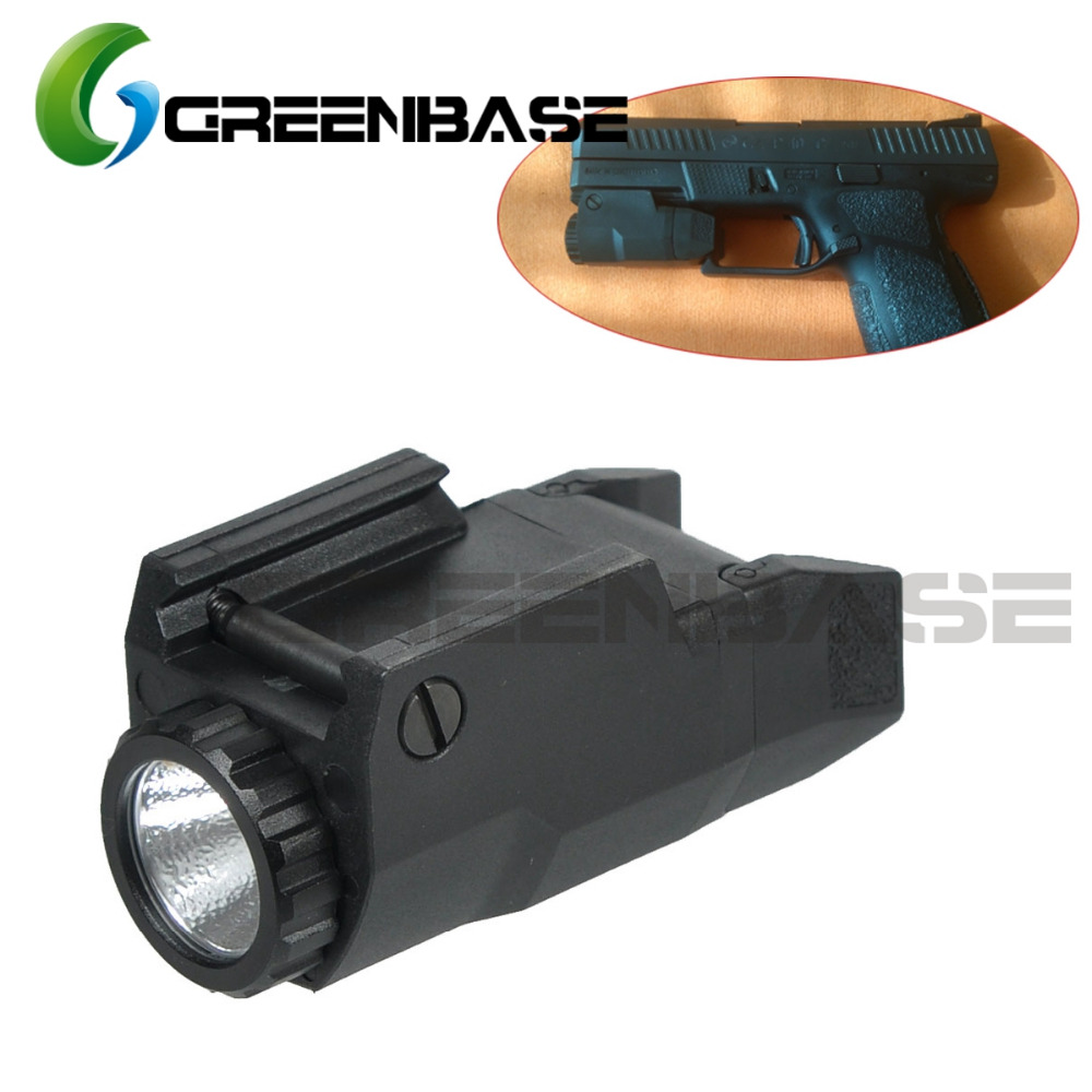 Greenbase APL Glock Tactical Flashlight Glock 17/19/21/22 Constant/Momentary/Strobe Output Pistol Light Compact LED White Light 2018 compact weapon mounted white light for glock full size pistol light 400 lumens tactical hunting apl g3