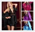2 Unidades de Batas Para Mujeres de Seda Robe Longue Túnica de Raso Mujeres Albornoz Kimono Pijamas 4 Colores