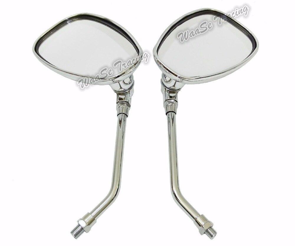 Chrome Flame Rearview Mirror For Honda CBR1000RR CBR600RR Shadow Chopper Cruiser