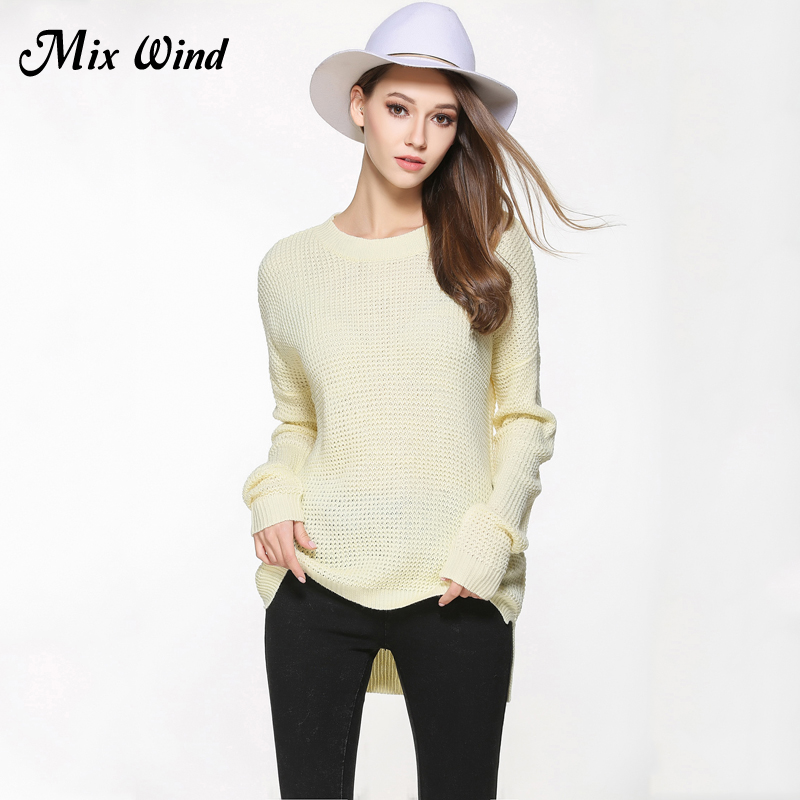 Mix Wind 2017 Europe And The United States large Size Women Knitted Sweater High Quality