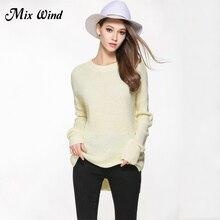 Смесь ветра 2017 Европа и Соединенные Штаты большой Размеры Женский вязаный свитер высокое качество