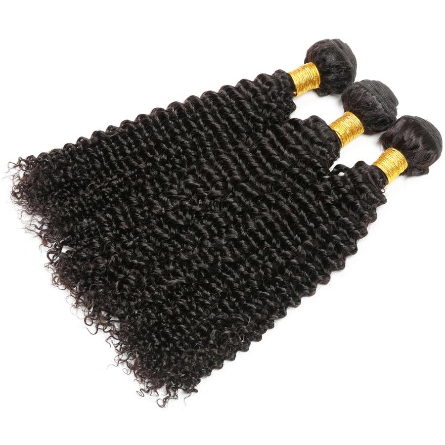 Afro Verworrenes Lockiges Haar Bündelt Brasilianische Haarwebart - Menschenhaar (für Schwarz) - Foto 4