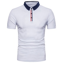 ZOGAA Rushed Regular Solid Short Breathable Lanlojer Summer Mens Short-sleeved Polo Shirt Element Dress Large Size Social Top