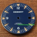 Watch Parts, Debert 31mm Blue Watch Dial Orange Marks for Mingzhu DG2813/3804 Automatic Movements