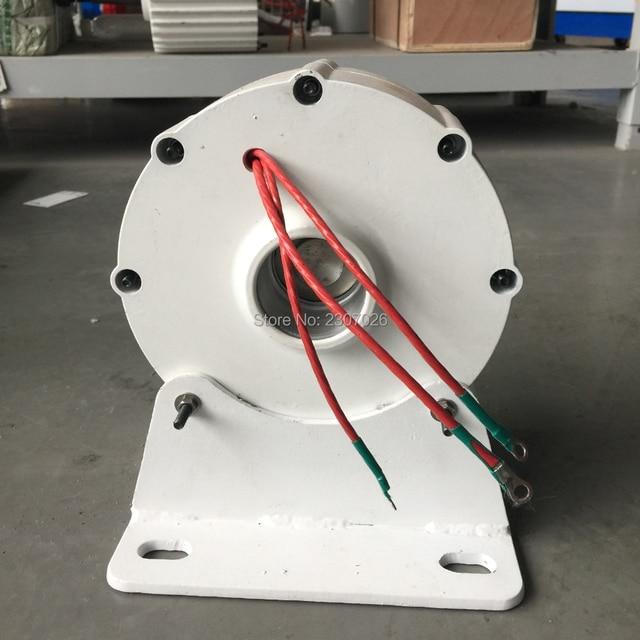 1854b87e168 NOVA VENDA 600 w gerador de ímã permanente BAIXO torque e baixa RPM  12V24v48V 3 fases