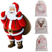 Large Canvas Merry Christmas Santa Sack Xmas Stocking Reindeer Gift Storage Bag Natal Navidad Christmas
