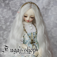 1/3 1/4 Fashion Style Bjd SD Doll Wig High Temperature Wire Long White Colors Beautiful Wavy Wig For BJD Hair