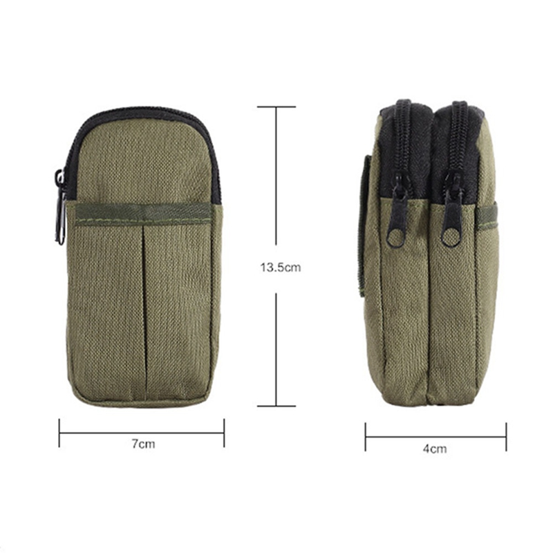 Outdoor Tactical Bag Waterproof Double Zipper Waist Fanny Pack Pouch Military Phone Pouch For Camping Hiking Hunting Traveling 1