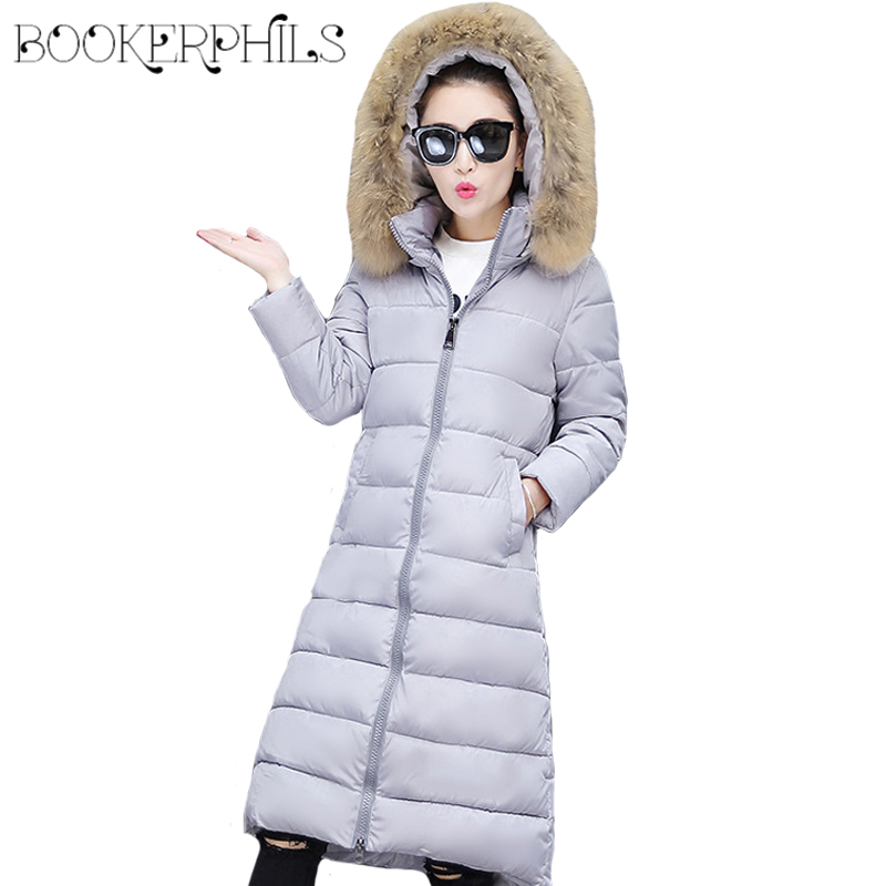 2017 Fur Collar Hooded Long Women Winter Jacket Plus Size 5XL 6XL Thick Warm Woman Parka High Quality Women Coats Female Outwear plus size winter jacket parka women long coat big hooded fur collar loose female clothes thick warm woman jackets ladies coats