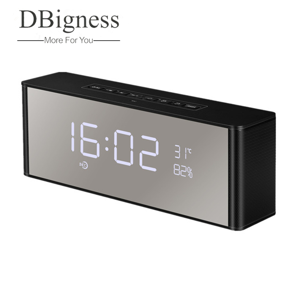 Alarm Clock Black Support 3.5 mm Audio Jack Superior Sound wireless Loudspeaker for iPhone iPad Samsung GALAXY and Other Bluetooth Devices Micro SD Card /& USB Input Sardine Bluetooth Speakers with FM Radio Built-in Mic LED Display