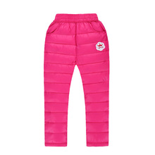 Winter wind children cotton pants boys and girls warm feather cotton pants cotton trousers fashion boy with thick clothes.