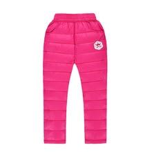 Зимний ветер хлопка детей брюки мальчиков и девочек теплый перо хлопок брюки хлопчатобумажные брюки моды мальчик с толстыми clothes.