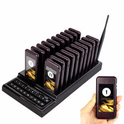 TIVDIO T-111 Restaurant Pagers 20 Call Wireless Calling Paging Queuing System Guest Call Button Waiter Catering Equipment F9401
