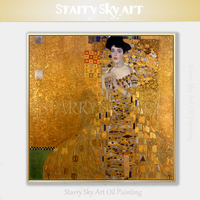 Professional Artist Hand painted Austria Vienna Adele Oil Painting Reproduce High Quality Gustav Klimt The Adele Oil Painting