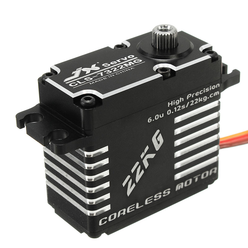 Hot Sale Servo High Performance RC Helicopter Parts JX CLS-7322MG 22KG High Precision Steel Gear Digital Coreless Servos 1pcs jx pdi 6221mg 20kg large torque digital coreless servo for rc car crawler rc boat helicopter rc model