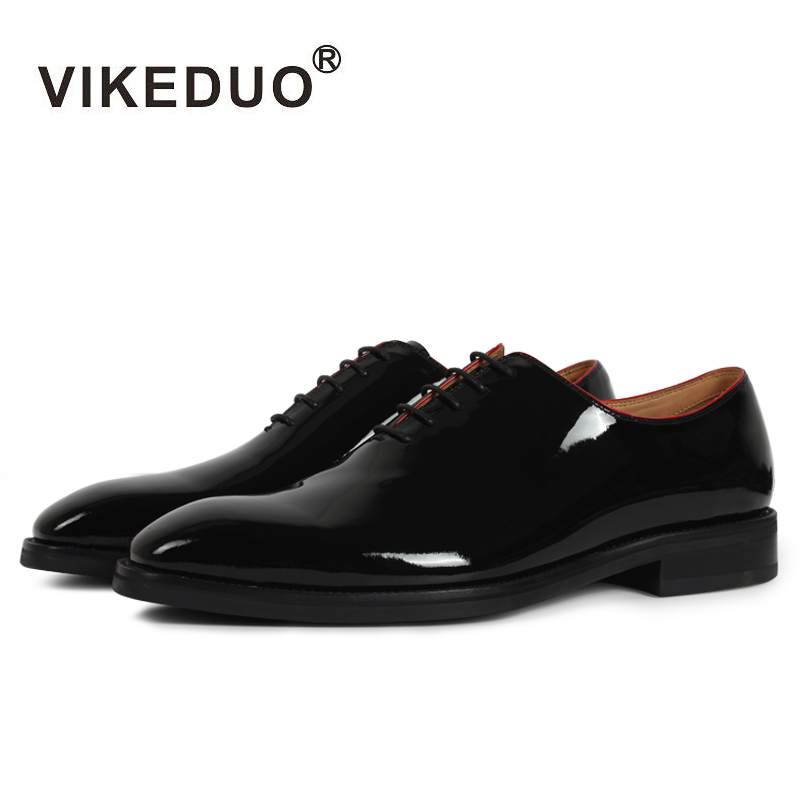 Vikeduo Brand 2018 Flat Italy Handmade Black Designer Fashion Party Casual Office Male Dress Genuine Leather Men Oxford Shoes ege brand handmade genuine leather spring shoes lace up breathable men casual shoes new fashion designer red flat male shoes