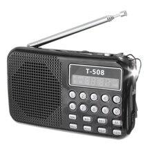 NEW T508 LED Stereo FM Radio Portable 50mm Internal Magnetic Speaker USB TF Card MP3 Player