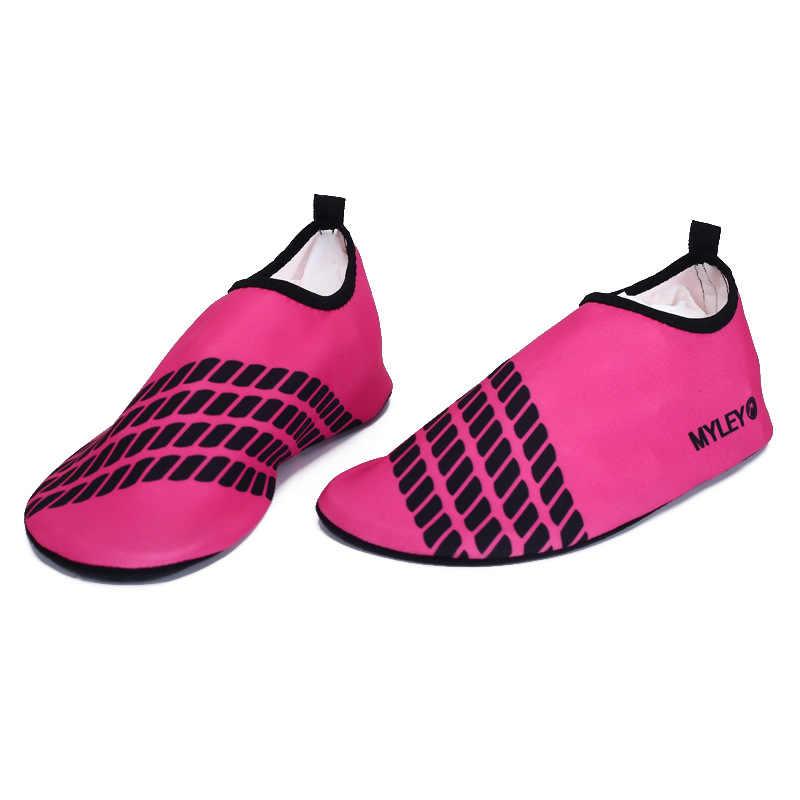 Детская обувь для дайвинга для носки Босиком тонкие носки летне-открытый плавательный спортивная обувь для мальчиков и девочек, детские пляжные юбки, Пляжная мягкая обувь для родителей и ребенка