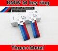 Новое поступление /// M логотип брелок для BMW E84 E87 E88 E89 E90 E92 E93 F01 F02 укладка ключи от машины кольцо