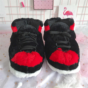 Image 5 - Unisex Fashion Shoe for Women 2019 Winter Warm Cotton Mens Slippers Couples Indoor Home Funny Shoes zapatos de mujer Free Size
