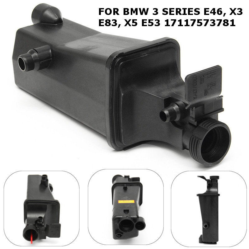 Radiator Coolant Overflow Expansion Tank Bottle For BMW 3 Series E46 X3 E83 E53 image
