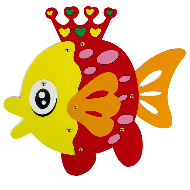 kid art set drawing craft cardboard painting art diy paint goldfish decoration cartoon fish educational toy - Picture For Kid Painting