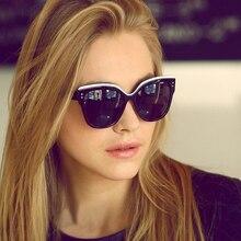 2017 Buenas Gafas de Sol de Moda Cat Eye Glasses Mujeres Retro Super estrella Gafas de Sol hombres Oculos gafas de sol gafas de Sol de La Mariposa 120R