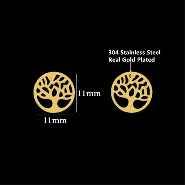 GORGEOUS TALE Women Charming Earrings Tree of Life Round Shape Tiny Simple Environmental Design Women Magnetic.jpg 640x640 - GORGEOUS TALE Women Charming Earrings Tree of Life Round Shape Tiny Simple Environmental Design Women Magnetic Party Earrings