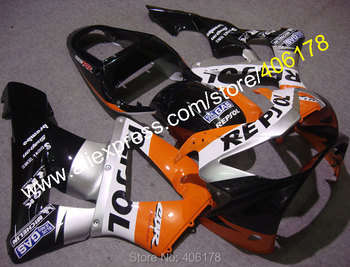 00-01 CBR900RR 929 Fairing Body Kit For CBR929RR 2000 2001 CBR900 Black Motorcycle Fairings (Injection molding)