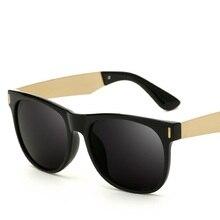 Gafas de sol para Los Hombres Cuadrados Vendimia de La Manera Gafas de Sol Anti-Reflejo Gafas UV400 Gafas De Sol de Gran Tamaño de Los Hombres Hombre
