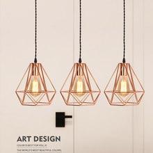 цены на Modern minimalist ceiling lgiht pendant lamp Iron single head Chandelier creative restaurant lighting living room study room  в интернет-магазинах