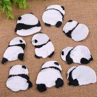 Panda Embroidered Cloth Stickers Cartoon Cute Little Panda Fabric Patch Clothing Accessories Decoration