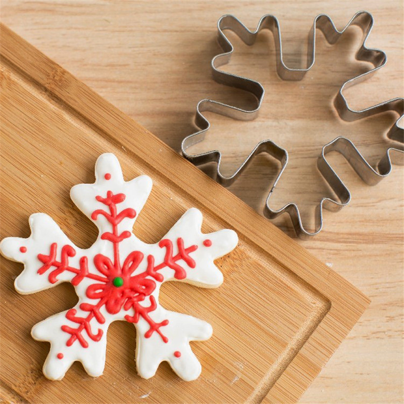 Large Size Cookie Cutter Mould Stainless Steel Christmas Snows Shape Biscuit Mold DIY Fondant Pastry Decorating Baking Tools