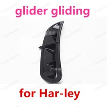 For Har-ley motorcycle accessories modified parts large glider gliding 14-15 large ventilation hood gas grid